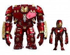 Avengers Age of Ultron Figurka s kývací hlavou Hulkbuster a bojem poničený Iron Man