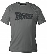 Back to the Future T-Shirt Grey Logo