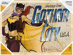 DC Comics Bombshells Glass Poster Greetings From Gotham City 30 x 40 cm