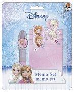 Frozen Memo Block with Pen Anna & Elsa