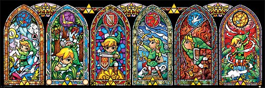 Legend of Zelda Mini Poster Pack Stained Glass 40 x 50 cm (5)