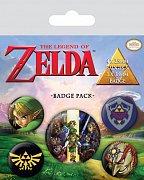 The Legend of Zelda Pin Badges 5-Pack Link