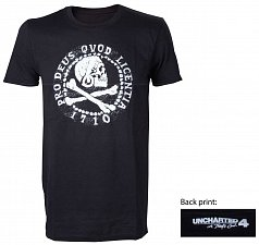 Uncharted 4 T-Shirt Skull Logo