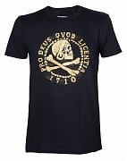 Uncharted 4 T-Shirt Skull Logo Gold