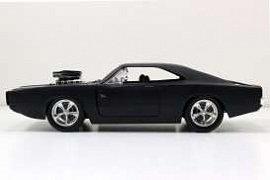 Fast & Furious Diecast Model 1/24 1970 Dodge Charger Matt Black