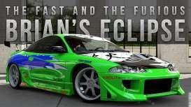 Fast & Furious Diecast Model 1/24 1995 Brian\'s Mitsubishi Eclipse