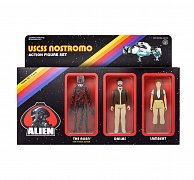 Alien ReAction Action Figure 3-Pack Pack C 10 cm --- DAMAGED PACKAGING