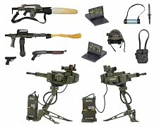 Aliens USCM Arsenal Weapons Accessory Pack for Action figurkas