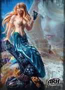 ARH ComiX Statue 1/4 Sharleze The Mermaid EX Version Human Skin 53 cm