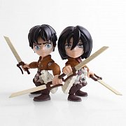 Attack on Titan Action Figure 2-Pack Eren & Mikasa (Crying) SDCC 2017 8 cm
