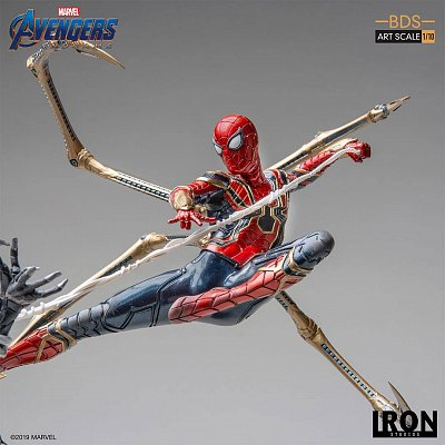 Avengers: Endgame BDS Art Scale Statue 1/10 Iron Spider vs Outrider 36 cm --- DAMAGED PACKAGING