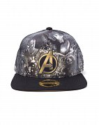 Avengers Infinity War Snap Back Baseball čepice Heroes All AOP