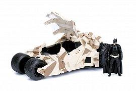 Batman The Dark Knight Diecast Model 1/24 2008 Batmobile Camo with figure