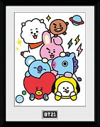 BT21 Framed Poster Characters Stack