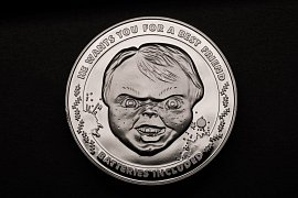 Child\'s Play Collectable Coin 25th Anniversary Chucky (silver plated)