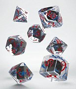 Classic RPG Dice Set translucent & blue-red (7)