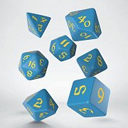Classic RPG Runic Dice Set blue & yellow (7)