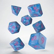 Classic RPG Runic Dice Set glacier & pink (7)