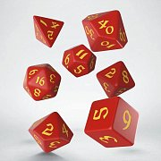 Classic RPG Runic Dice Set red & yellow (7)