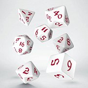 Classic RPG Runic Dice Set white & red (7)