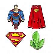 DC Comics Collectors Pins 4-Pack Superman --- DAMAGED PACKAGING