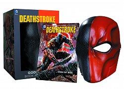 DC Comics Replika Deathstroke Mask & Book (Maska a kniha Gods of War)