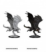 D&D Nolzur\'s Marvelous Miniatures Unpainted Miniature Young Black Dragon