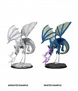 D&D Nolzur\'s Marvelous Miniatures Unpainted Miniature Young Blue Dragon