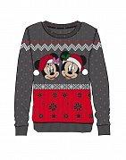 Disney Ladies Knitted Christmas Sweater Mickey & Minnie