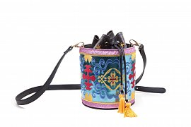 Disney Magic Carped Glitter Drawstring Bucket Bag (Aladdin)