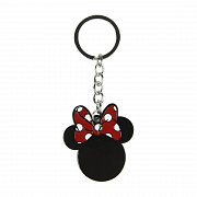 Disney Metal Keychain Minnie Mouse Silhouette