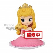 Disney Q Posket SUGIRLY Mini Figure Princess Aurora Normal Color Ver. 9 cm