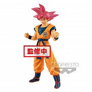 Dragonball Super Cyokuku Buyuden PVC Statue Super Saiyan God Son Goku 22 cm --- DAMAGED PACKAGING