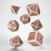 Dwarven Dice Set beige & burgundy (7)