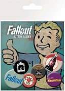 Fallout Pin Badges 6-Pack Mix 2