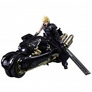 Final Fantasy VII Advent Children Play Arts Kai Action Figure Cloud Strife & Fenrir 28 cm