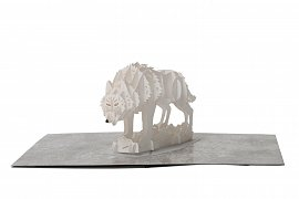 Game of Thrones 3D Pop-Up Greeting Card Direwolf