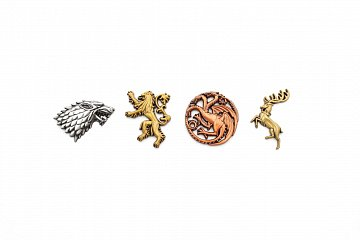 Game of Thrones 4-Pack Pin Badges Main Houses - 3