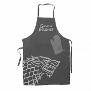 Game of Thrones cooking apron with oven mitt Hear Me Roar House Stark
