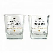 Game of Thrones Drinking Glass 2-Pack Valar Dohaeris / Valar Morghulis