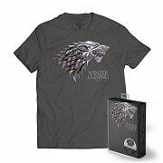 Game of Thrones T-Shirt Stark Metallic Shield