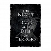Game of Thrones Tin Sign Night Dark 21 x 15 cm