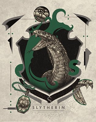 Harry Potter Art Print Slytherin 36 x 28 cm