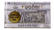 Harry Potter Replica Quidditch World Cup Ticket Limited Edition (silver plated)