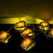 Harry Potter String Lights Gryffindor Crests