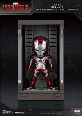 Iron Man 3 Mini Egg Attack Action Figure Hall of Armor Iron Man Mark V 8 cm