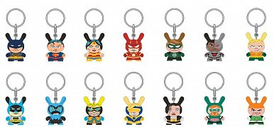Justice League Dunny Vinyl Keychains 4 cm Display (24)