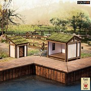 Kensei ColorED Miniature Gaming Model Kit 28 mm Shed & Latrine