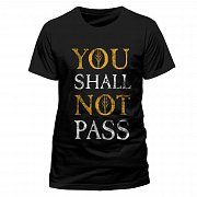 Lord of the Rings T-Shirt You Shall Not Pass Text