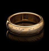 Lord of the Rings Tungsten Ring The One Ring (gold plated)